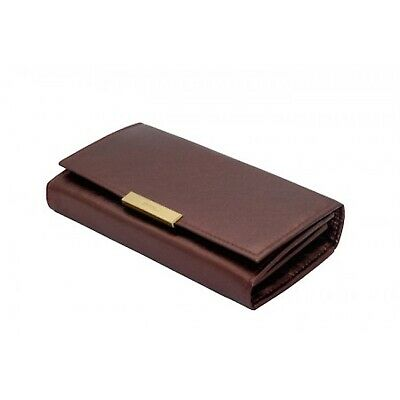 Khaalz Genuine Leather Ladies Trifold Wallet In Cream Leather