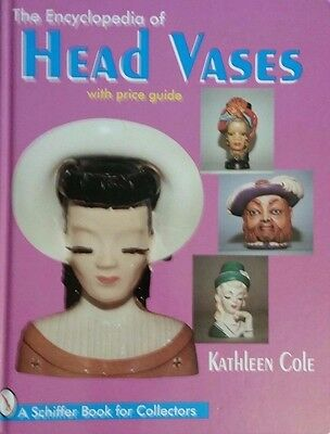 Antique Encyclopedia Head Vase Value Guide Collector's Book Hb Color Pics
