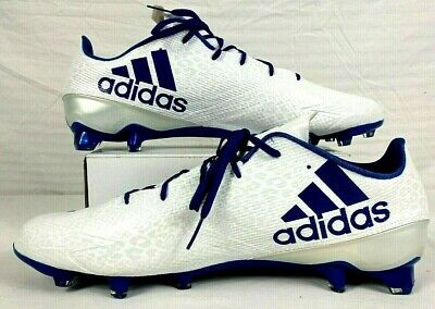 wholesale dealer 868f5 6ef04 NEW Adidas AdiZero 5 Star 5.0 Football Cleats White Blue Men s Size 18  AQ8734