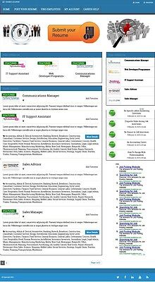 Job Posting Board Website Business For Sale! Mobile Responsive Design