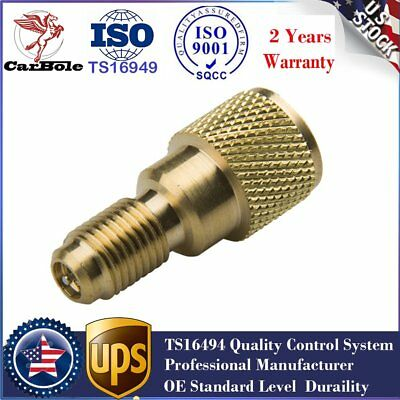 "New R134A Brass Adapter 1/4"" Male 1/2"" ACME Female Charging Hose to Vacuum Pumps"