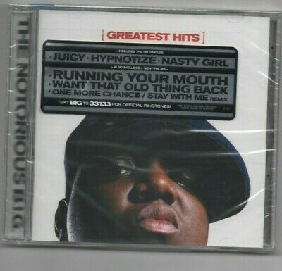 Notorious BIG Greatest Hits CD & Limited Edition KeyChain Juicy, Hypnotize