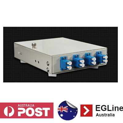 4Port HINGED Lid Wall Mount Fibre Optic Patch Panel Enclosure - SC / LC Type