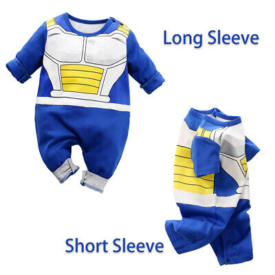 a53c07ef8 Newborn Baby Boy Dragon Ball Z Costume Romper Vegeta Outfit Infant Playsuit  Gift