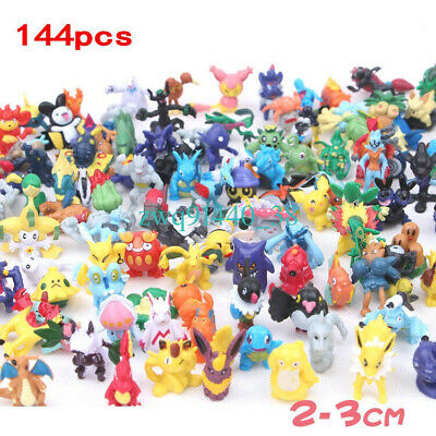 144pcs Mixed Pokemon Pikachu Monster Mini Random Pearl 2-3cm Action Figures toys