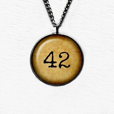 Hitch Hikers Guide to the Galaxy Meaning of Life 42 Stainless Steel Necklace