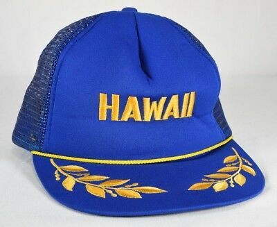 VINTAGE TRUCKER BAHAMAS Mesh SnapBack Cap Snap Back Hat Royal Blue ... 111908a7391e