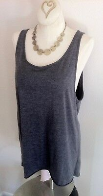13efe7405c5ba Gray H M muscle shirt grey tank top long cowl neck basic small divided