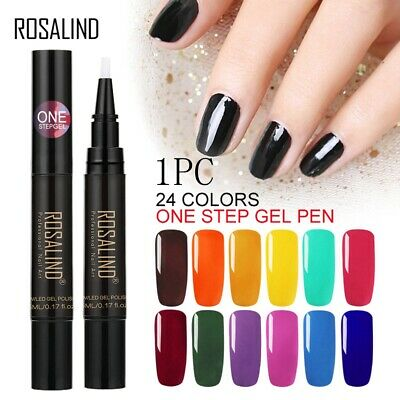 24 Colors Optional Nail Gel Polish Pen Nail Art UV Led Lamp Nail Decoration