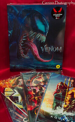 Venom Steelbook Lenticular 4K UHD Limited Edition + Bonus Marvel Art Cards *