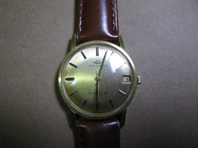 """Vintage Movado Kingmatic """"s"""" Sub-Sea Automatic Watch  28 Jewels Gold Plated"""