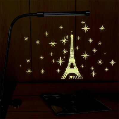 Romantic Paris Eiffel Tower Wall Sticker Decal Mural Glow in the Dark Room Decor