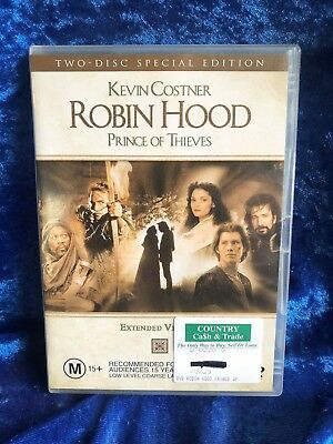 Robin Hood Prince Of Thieves 2 Disc Special Edition Region 4 DVD