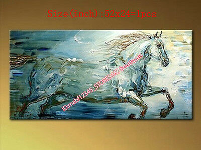 100% Hand painted Huge Animal Oil PAINTING Canvas HORSE Wall Art home NO Frame
