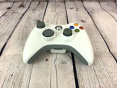 Microsoft Xbox 360 WHITE Wireless Controller Official Genuine Original OEM Works
