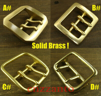 Inner width 40 / 45/ 61mm Solid Brass Tongue double Pin buckles Belt Buckle