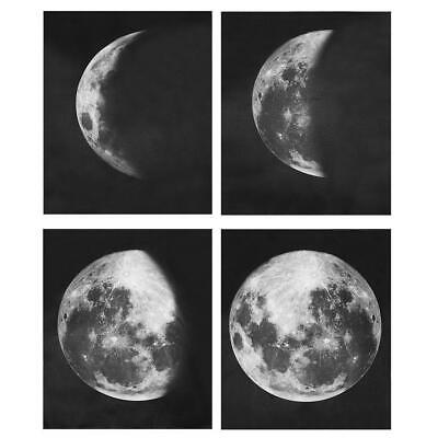 4pcs No Framed Moon Phases Abstract Poster Prints Wall Art Canvas Painting Decor