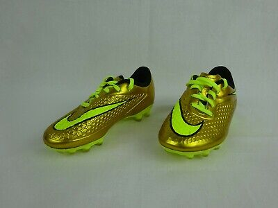 check-out de23f 4b118 NIKE HYPERVENOM PHATAL Premier FG Gold Soccer Cleats ~ Children's Size 12.5  C