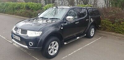 High Spec Mitsubishi L200 Barbarian 2.5L Di-D Black 2012 With Snug Top 175 Bhp