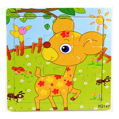 Wooden Jigsaw Puzzle Train Kids Educational Toy Baby Fashion New Casual Cartoon
