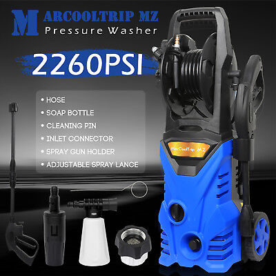 Electric High Pressure Washer 2260 PSI/156 BAR Power Jet Water Patio Car Cleaner