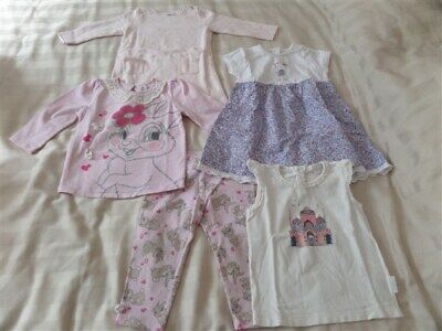Cute Girls Size 1 Clothes Bulk Bundle - Pure Baby, Jack and Milly, Disney Baby