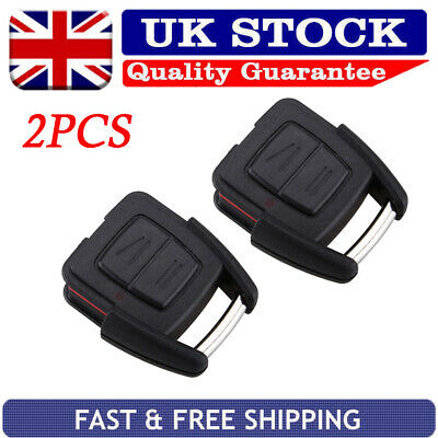2PCS Remote Car Key Fob Shell Replacement For Vauxhall Opel Astra Vectra Zafira