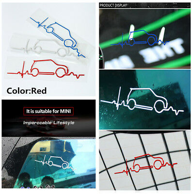 Stylish Red Window Windsheid Trunk Tail Reflective Decal Sticker For MINI Cooper