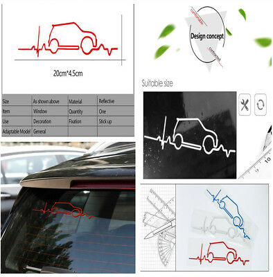 New Car Body Styling Red Window Windsheid Trunk Tail Reflective Decal Stickers