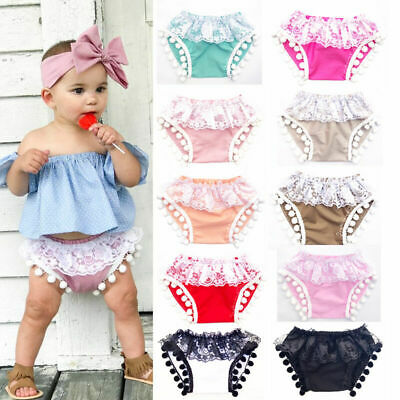 Newborn Girl Lace Bottom Shorts Tassel Fringe Bubble Shorts Bottom Pants