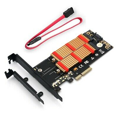 M.2 Nvme SSD NGFF TO PCI-E X4 3.0 PCB Adapter M Key B Key Dual Interface Ri C1G1