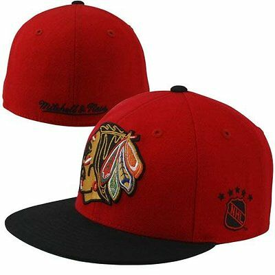 Mitchell & Ness NHL Chicago Blackhawks XL Logo Red/Black Fitted Cap