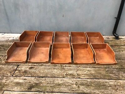 Antique vintage wooden haberdashery unit shop counter drawers