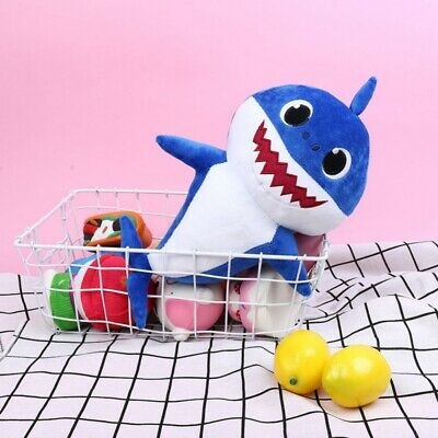 Plush  Baby Shark Cartoon Music Singing English Song Toy Doll Musical Toy Gift