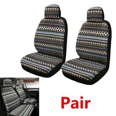 2Pcs Front Car Seat Covers Cushion - Bohemia National Style Baja Blanket Cloth