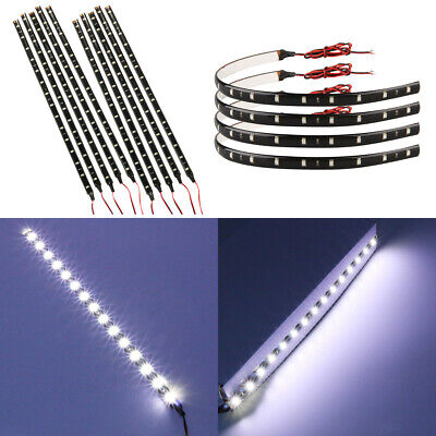 4/10PCS 30CM DC 12V 15 LED 1210 3528 SMD White LED Strip Lights Waterproof IP67