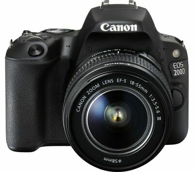 Canon Eos 200D Dslr Camera With Ef-S 18-55 Mm F/3.5-5.6 Iii Lens New Uk Model