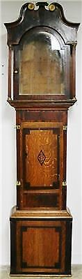Antique Oak & Mahogany Longcase Grandfather Clock Case Only Good Clock Spares