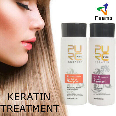 PURC 100ml 8% hair straighten Brazilian treatment of keratin & purifying shampoo