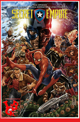 SECRET EMPIRE Nov 2018 Marvel Deluxe Hardcover intégrale Panini 410 pages# NEUF#