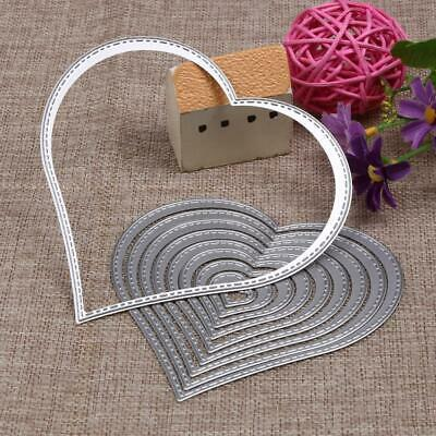 Stitched Heart Nesting Metal Cutting Dies New x 10 Cardmaking Scrapbooking