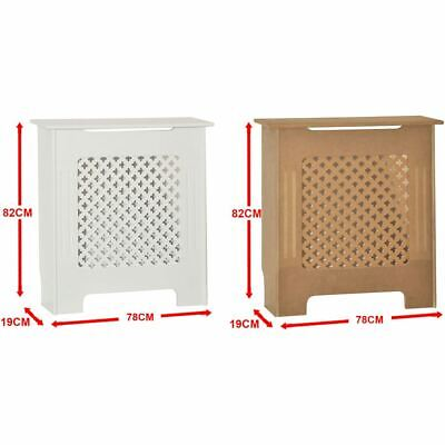 Radiator Cover Oxford Traditional MDF Wood Grill Unfinished White Small Guard