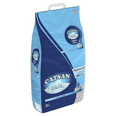 2 x 20Litre Premium Catsan Hygiene Cat Litter DAMAGED PACKAGING