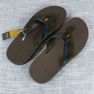 790534ab9 NWT TEVA MENS Azure Flip Flops Sandals Size 11 Brown -  43.39
