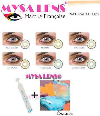Color Contacto Lenses Kontaktlinsen Natural Colors 1 Year MYSA LENS