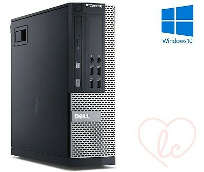 FAST GAMING DELL BUNDLE TOWER PC FORNITE COMPUTER SYSTEM INTEL i3 8GB 1TB GT710