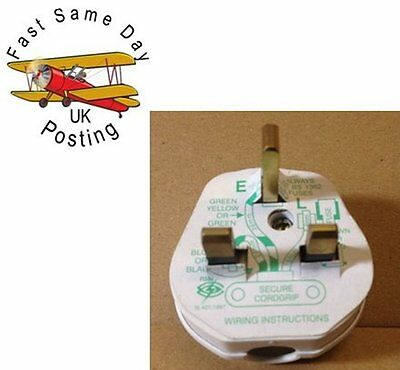 1 Xnew Uk Fused Standard 13Amp 13A  3 Pin Mains Household Plug Fast Postage