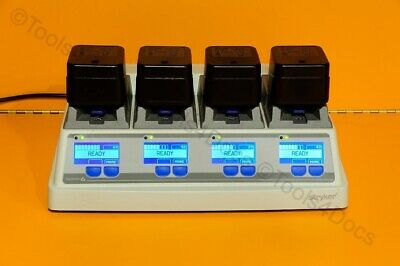 Stryker system 6 Battery Charger 6110-120-000 with 4X 6215-000-000 batteries