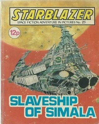 Slaveship Of Simala,no.23,starblazer Space Fiction Adventure In Pictures,comic