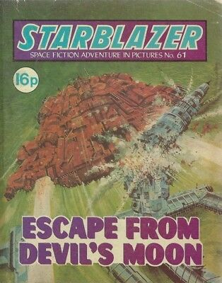 Escape From Devil's Moon,no.61,starblazer Space Fiction Adventure In Pictures